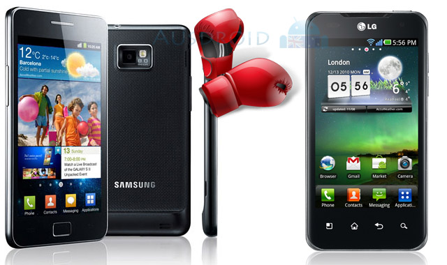 Comparison of 1080p video shot from Samsung Galaxy S II and LG Optimus 2X