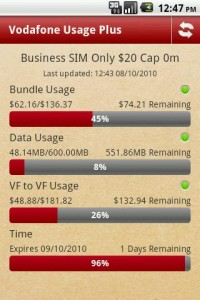 App Review: Vodafone Usage (Plus)