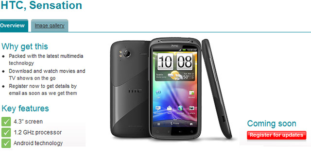 HTC Sensation leaked again, this time by Vodafone UK