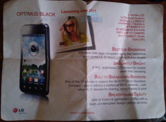 LG Optimus Black coming to Optus in June, Optimus 3D in July