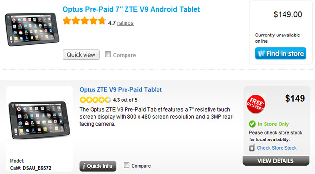 Optus reduces price of prepaid My Tab to $149, tablet competition heats up
