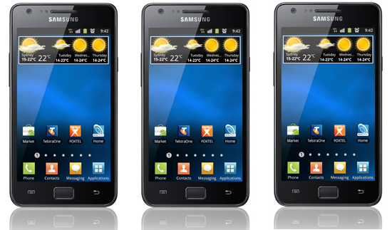 Samsung Galaxy S II hitting Telstra in July