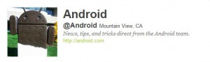 Android now on Twitter