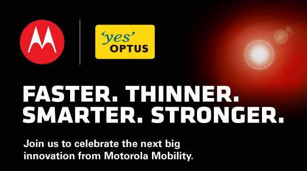 Motorola and Optus to announce Motorola Spyder (Droid RAZR) at October 27th event?