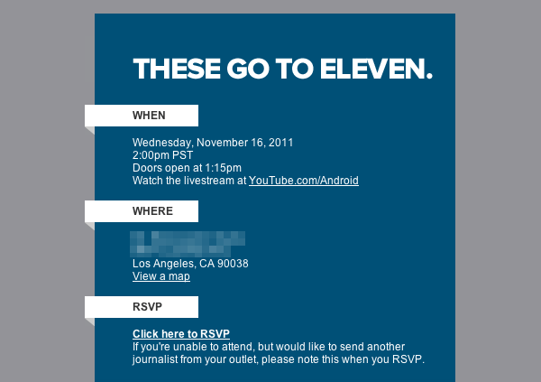 Google sends out invites for event scheduled for November 16th