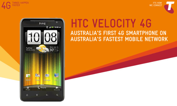 Telstra's first 4G smartphone, the HTC Velocity 4G is now available for pre-order