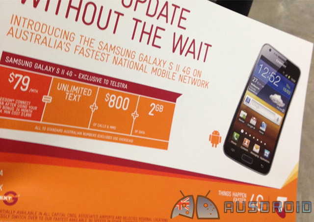 Exclusive: Samsung Galaxy S II 4G launching on Telstra come March 27th, $0 on $79