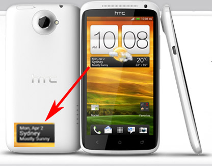 HTC One X render shows a possible release date of April 2nd in Sydney