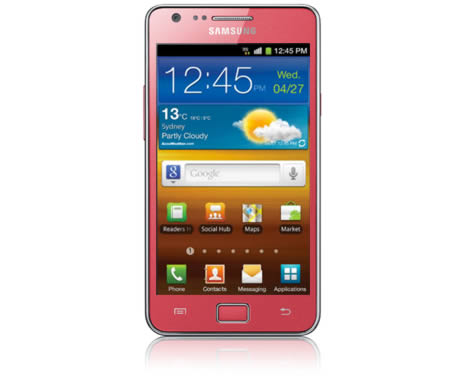 Vodafone now selling pink Samsung Galaxy S II, $5 on $29 cap