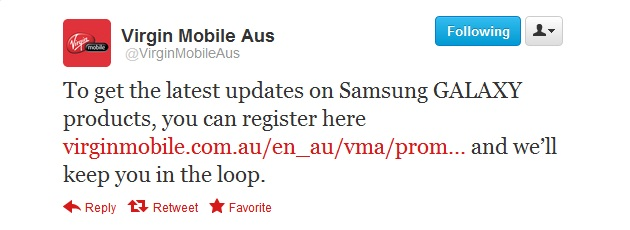 Register your interest in Samsung Galaxy products with Virgin Mobile