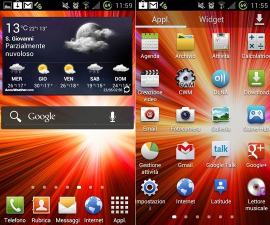 Galaxy S III TouchWiz Nature UX gets ported to Galaxy S II