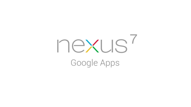 Nexus 7 Video – Google Apps