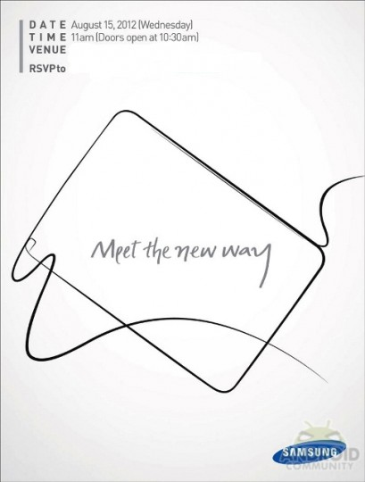 Samsung looks set to unpack the Galaxy Note 10.1 at August 15th event in the US