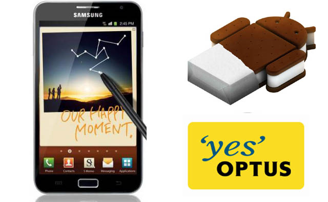 Optus Galaxy Note – Ice Cream Sandwich update approved for rollout