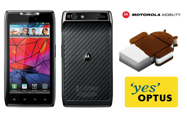 Ice Cream Sandwich rolling out to Optus Motorola Razr handsets
