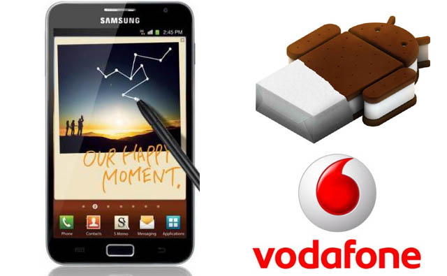 Ice Cream Sandwich update for Vodafone Samsung Galaxy Note is approved awaiting rollout