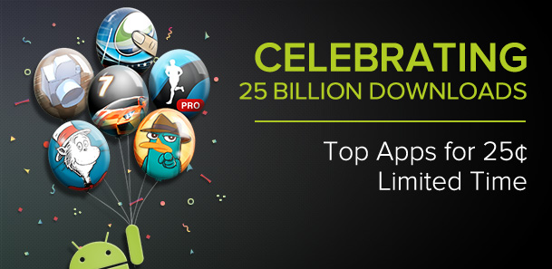 Google Play 25 Billion downloads sale -Apps, Books and Movies