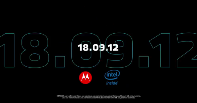 Motorola and Intel release teaser clip for September 18 Event