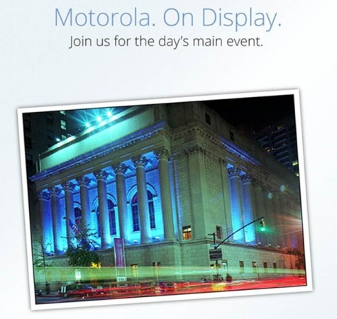 Motorola. On Display event tomorrow morning, new RAZR phones incoming?