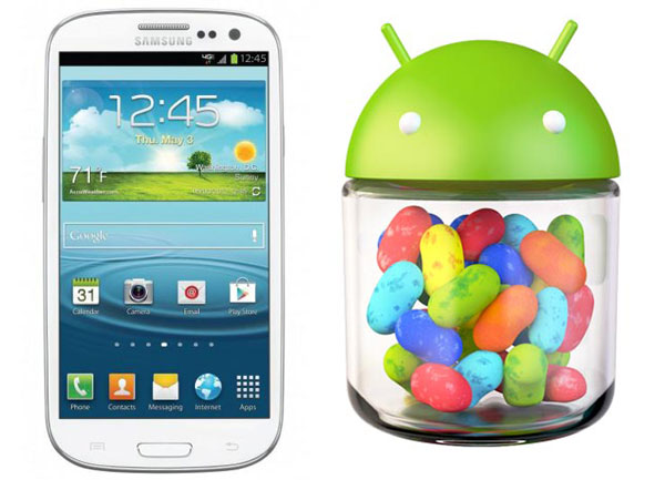 Updated: Jelly Bean rolling out to SGSIII phones