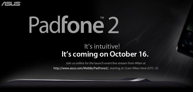 Asus to stream Padfone 2 launch event