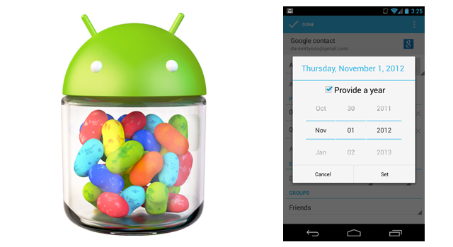 December missing from People app in Android 4.2, Google promises to bring it back 'soon'.