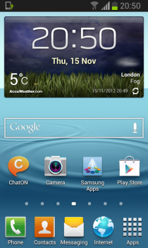 Galaxy S II Jelly Bean - Home Screen