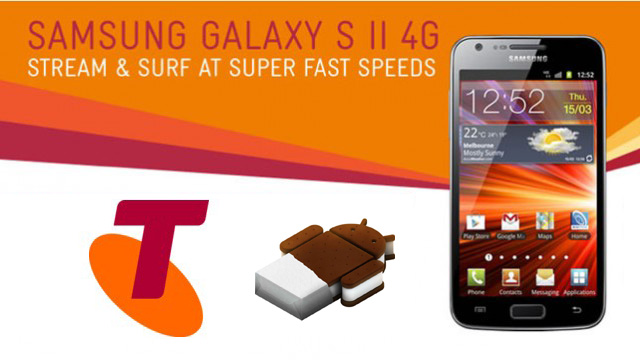 Ice Cream Sandwich update for Telstra Samsung Galaxy S II 4G update to begin Friday