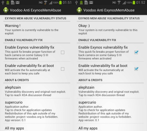 Samsung Exynos vulnerability fixed by XDA developer