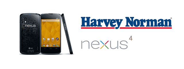 Nexus 4 returns to Harvey Norman website for pre-order