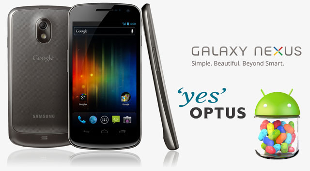 Optus rolling out Jelly Bean to Galaxy Nexus now
