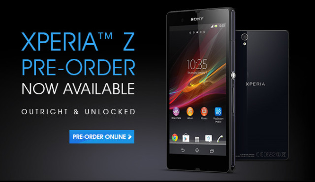 Sony Australia now taking pre-orders for the Xperia Z