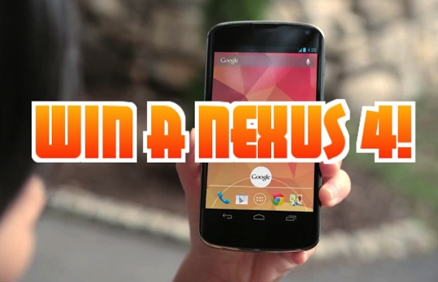 Win a Nexus 4 — NOW CLOSED
