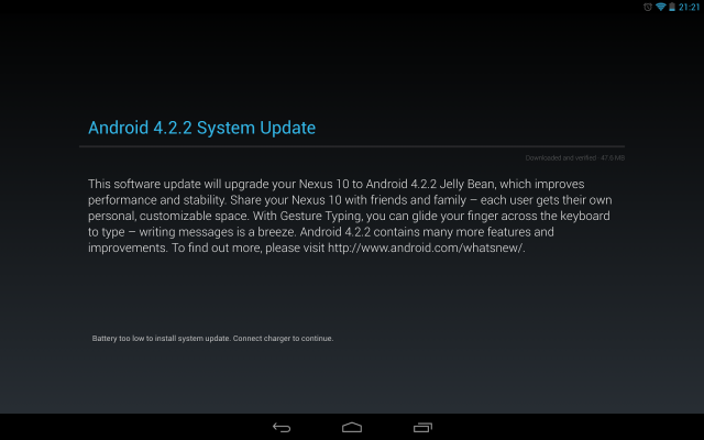 Android 4.2.2 rolling out to GSM Galaxy Nexus, Nexus 7 and Nexus 10