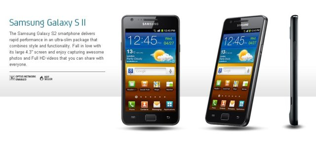 Samsung Galaxy S2 from Optus to get Jelly Bean update over the next week