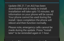 Install notification