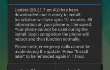 Install notification