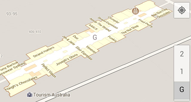 Google Maps for Android moves indoors in Australia