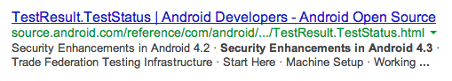 Mention of Android 4.3 quickly pops up and disappears from official Android website