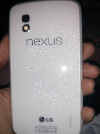 White Nexus 4 Poses for Photos Again