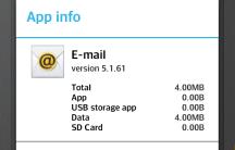 Home Screen - App Info