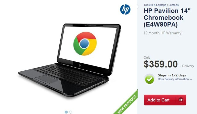 Kogan begins selling the International HP Pavillion 14(E4W90PA) Chromebook with 16GB SSD
