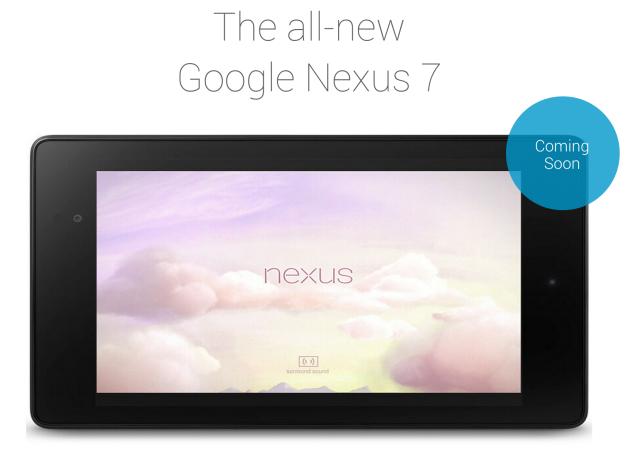 Nexus 7 (2013) Coming Soon