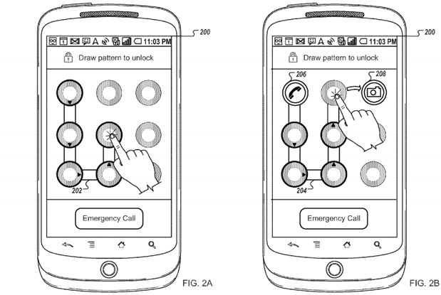 New Google patent shows customisable pattern unlock to apps