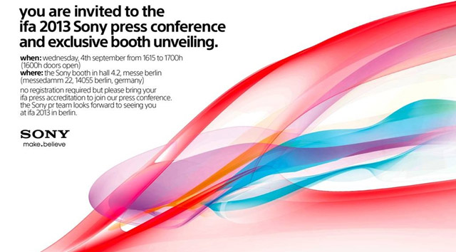 Sony to hold press conference at IFA, Xperia Z Ultra a possibility