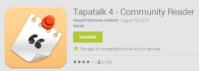 Tapatalk 4 – On Sale for Launch