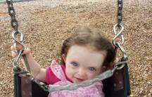 Jennifer on the swing