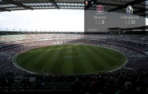 A general view from the top section of the memebers section during the 2013 AFL Round 11 match between the Melbourne Demons and the Collingwood Magpies at the MCG, Melbourne on June 10, 2013. (Photo: Darrian Traynor/AFL Media)