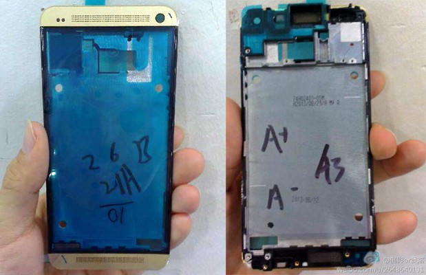 HTC One parts in Gold colouring spotted in China