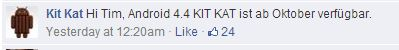 Kit Kat Facebook